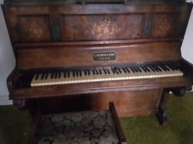 Vintage Piano and Stool