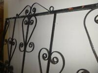 gate and post in iron