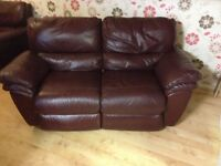 CSL leather reclining sofas 3+2