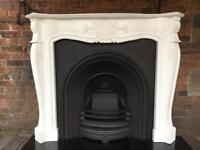 DELIVERY £25 max cast iron fireplace and surround