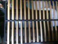 King Size Double Bed in dark wood veneer for sale