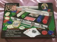 Poker set and poker rack
