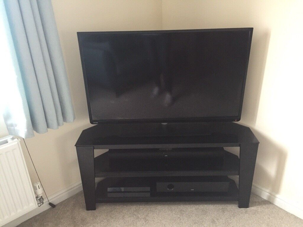 Excellent Large Black Glass Tv Tele Stand Multi Shelf In Plymouth Devon Gumtree Uwap Interior Chair Design Uwaporg