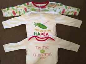 Lovely Babygrows set x5 age 9-12 months