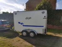 Blueline Twin Axle Box Race Trailer 10x5x6 Motorcycle Tow a van