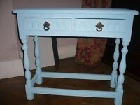 Small console/table in sky blue