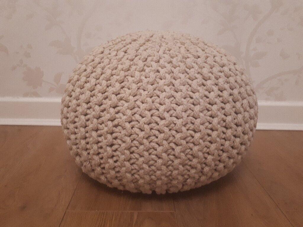 Footstall / Pouffe / Knitted pod