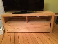 Blonde wood IKEA TV Bench