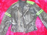 motorcycle jacket black vintage genuine biker jacket