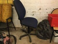 Office swivel chair with height adjusters
