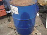 empty oil drum