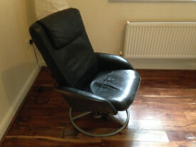 Reclining Black Swivel Chairs - Collect Only