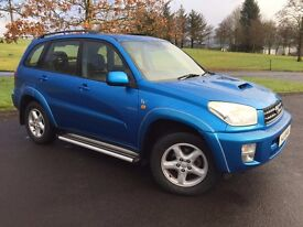 SEPT 2003 TOYOTA RAV 4 2.0 D4D VX FULL LEATHER AIR CON SIDE STEPS TOWBAR MAY PART X MOT TO OCT MINT