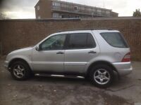 Mercedes ML320 Auto Low Milage only 80,000. Long MOT