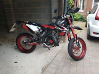 Rieju (Yamaha) MRT1 50 SM Trophy SUPERMOTO MOPED 50CC MOTORCYCLE Special Edition 2017