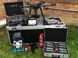 Commercial Drone, Heavy lift Hex-Copter with all equipment included.