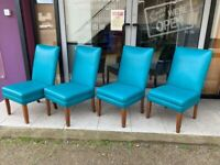Retro visiter chair green leatherette