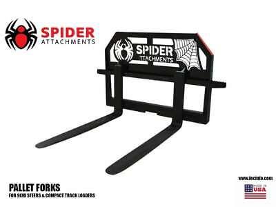 Spider Attachments Skid Steer Pallet Forks