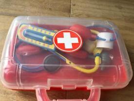 Children's toy doctors kit