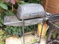 Gas BBQ with gas cylinder