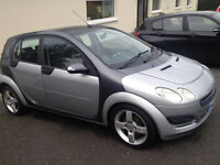 1.5 Litre Diesel 2004 Smart ForFour 5 Door 5 Seat car. 95 Bhp model.122,000 miles Auto Silver/Black