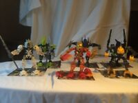 Lego Bionicles _ bag of Bionicles figures of various type and sizes