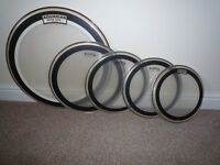 Set of 5 Aquarian Performance II Drum Heads For Sale £55