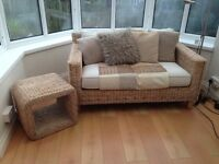 Conservatory Sofa and side table for sale