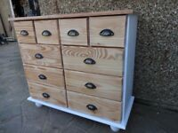 PINE CHEST OF DRAWERS - 10 DRAWERS - MULTI-DRAWER -