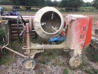 Belle Diesel Cement Mixer XT100 - Electric Start.