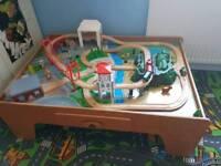 Elc wooden rail train table