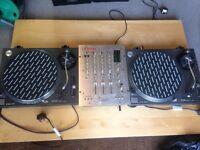 Technics 1210s X 2 - Vestax PcV-275 Mixer - Speakers & AMP
