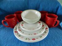 """Corelle """"Spring Pink"""" 20pc 4 Place Setting Dinnerware set for less than the price of a 16pc set!"""