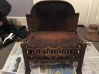 Dog crate fire cast iron
