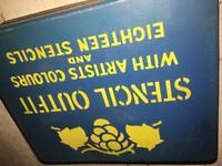 Retro /vintage...Stencil set in tin