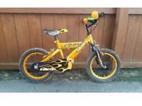 "Huffy boys 14"" bike with stabilisers. Age 4+"