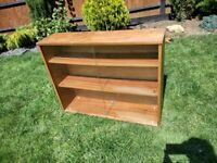 Wooden Bookcase / Display Cabinet - Glass Fronted