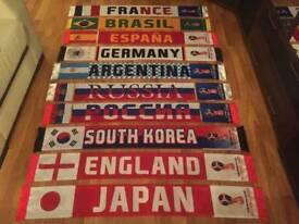 Fifa : Russia 2018 Team Flag Scarfs