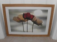 'POPPIES' FRAMED IKEA PRINT BY YOSHIKO KAWASAKI. IN EXCELLENT CONDITION. COLLECTION ONLY