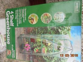 Four Shelf Greenhouse unused with spare heavy duty cover