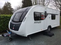 Sterling Eccles Sport 554SR Caravan 2014 Immaculate Condition
