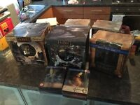 8 limited LOTR & The Hobbit bust DVD/Blu ray boxed sets mostly sealed