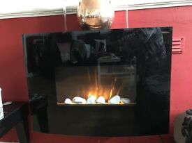 Electric wall hanging fire