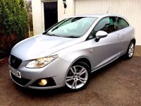 **.1 OWNER.** 2010 SEAT IBIZA CR SPORT TDI 1.6 SILVER £30 TAX MANUAL 3 DOOR HATCH TURBO DIESEL