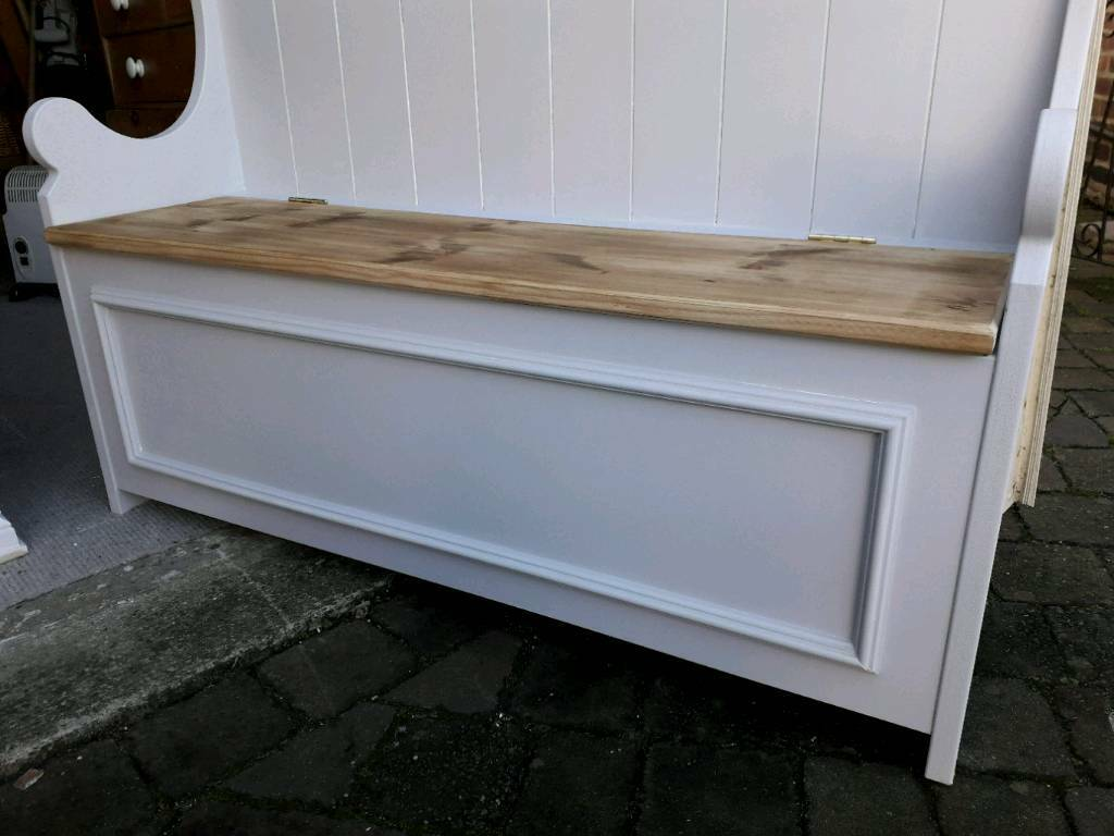 Super A 5Ft Monks Storage Bench Painted In Pale Silver By Laura Ashley In Stockton Heath Cheshire Gumtree Evergreenethics Interior Chair Design Evergreenethicsorg