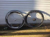 Zipp 404 set of bicycle racing wheels