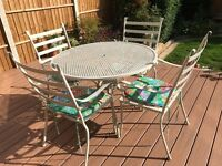 KETTLER metal garden table and 4 chairs