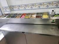 Pizza preparation fridge