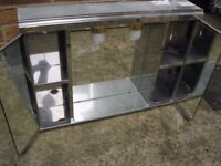 Mirrored cabinet with lights