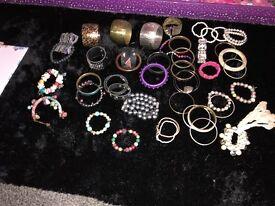 (48) bundle of Bracelets and Bangles